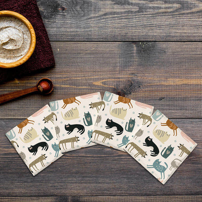 Cute Cats |Drink Coaster Set