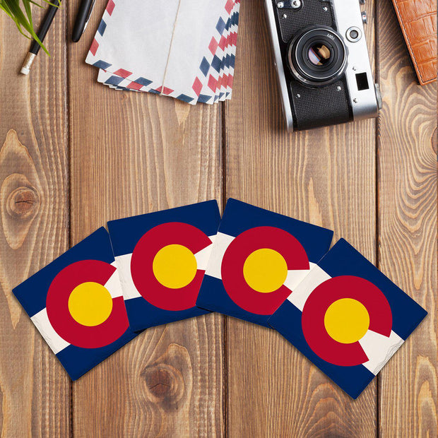Colorado State Flag |Drink Coaster Set