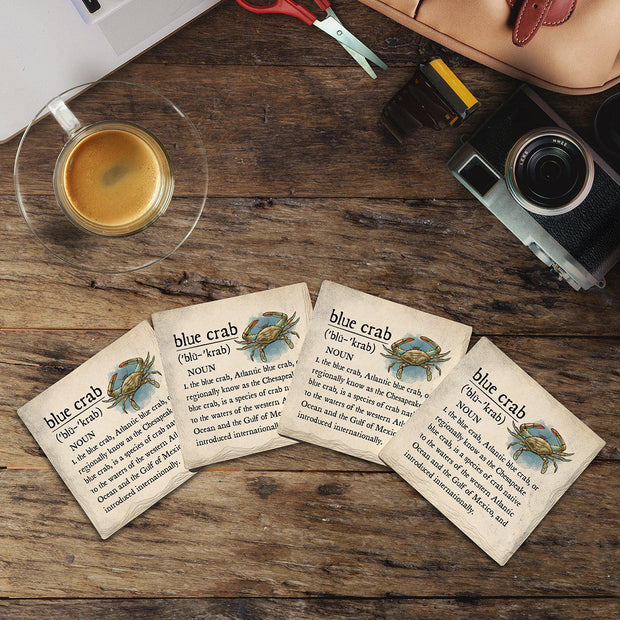 Blue Crab Definition |Drink Coaster Set