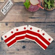 Washington D.C. Flag |Drink Coaster Set