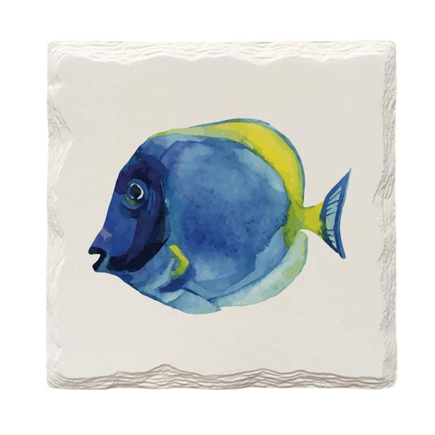 Blue Tang Fish |Drink Coaster Set