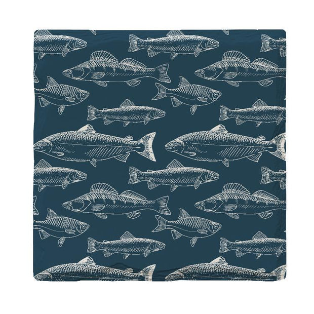 Navy Trout Pattern | Drink Coaster Set