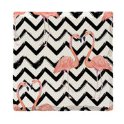 Chevron Flamingos |Drink Coaster Set