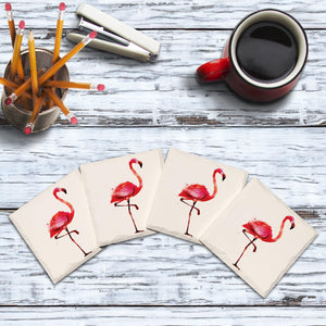 Watercolor Flamingos-Mill Wood Art