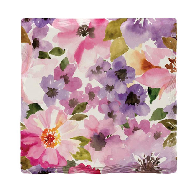 Purple Flowers |Drink Coaster Set