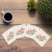 Teal Daisy Pattern |Drink Coaster Set