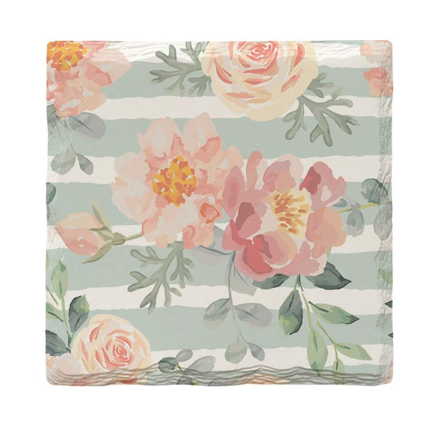 Floral Wallpaper Pattern |Drink Coaster Set