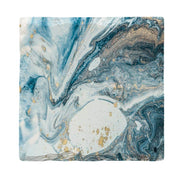 Blues & Greys Marbling-Mill Wood Art