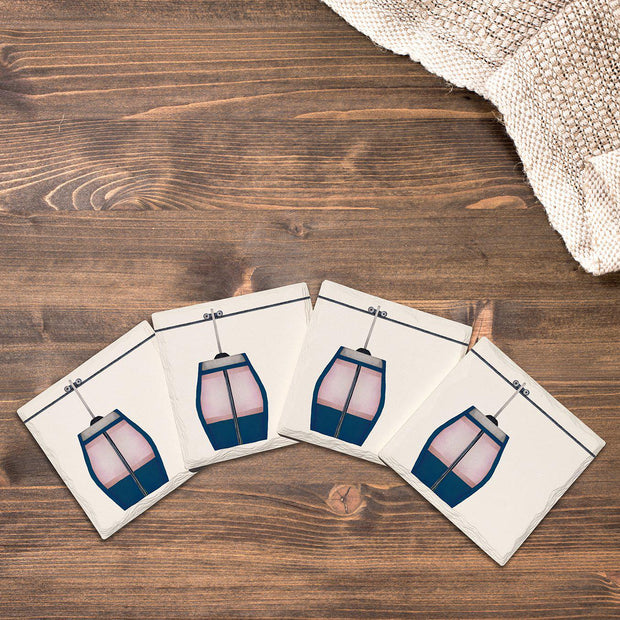 Ski Lift |Drink Coaster Set