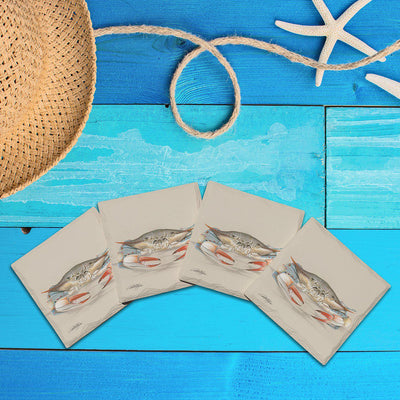 Art Lamay: Curious Crab |Drink Coaster Set