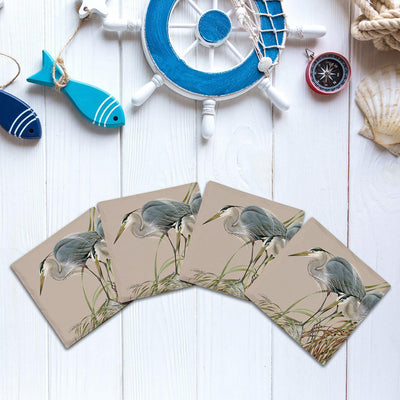 Art Lamay: Heron Duo |Drink Coaster Set