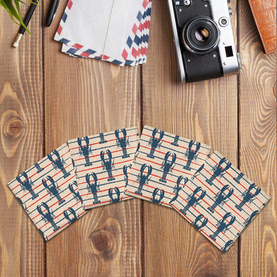 Lobster Pattern |Drink Coaster Set