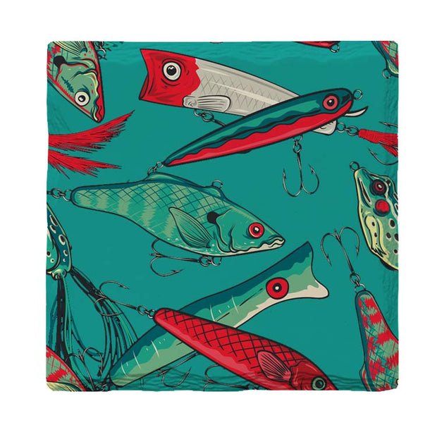 Teal Fishing Lures-Mill Wood Art