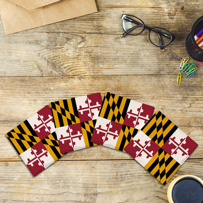 Maryland State Flag |Drink Coaster Set