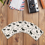 Elk & Mountain Pattern |Drink Coaster Set