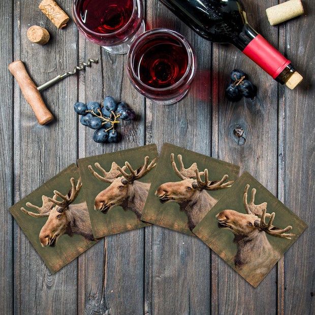 Happy Moose |Drink Coaster Set