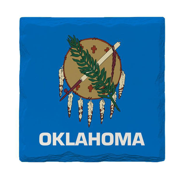 Oklahoma State Flag | Drink Coaster Set