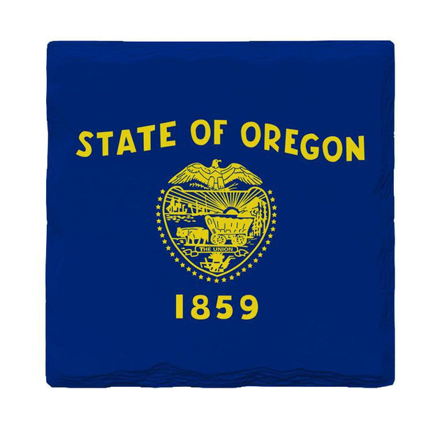 Oregon State Flag | Drink Coaster Set