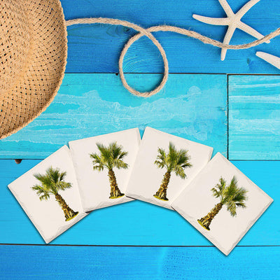 Palm Tree | Drink Coaster Set