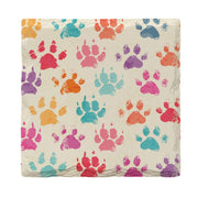 Colorful Dog Paws | Drink Coaster Set