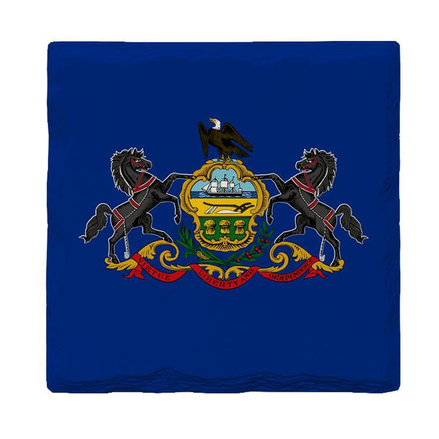 Pennsylvania State Flag | Drink Coaster Set