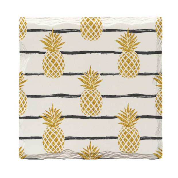 Golden Pineapples | Drink Coaster Set