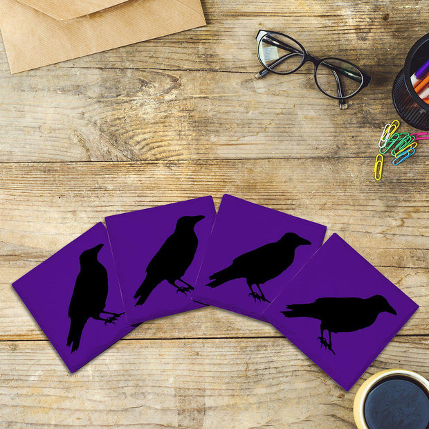 Purple Ravens | Drink Coaster Set