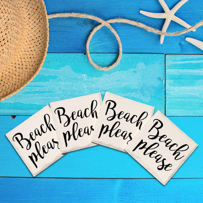 Beach Please-Mill Wood Art