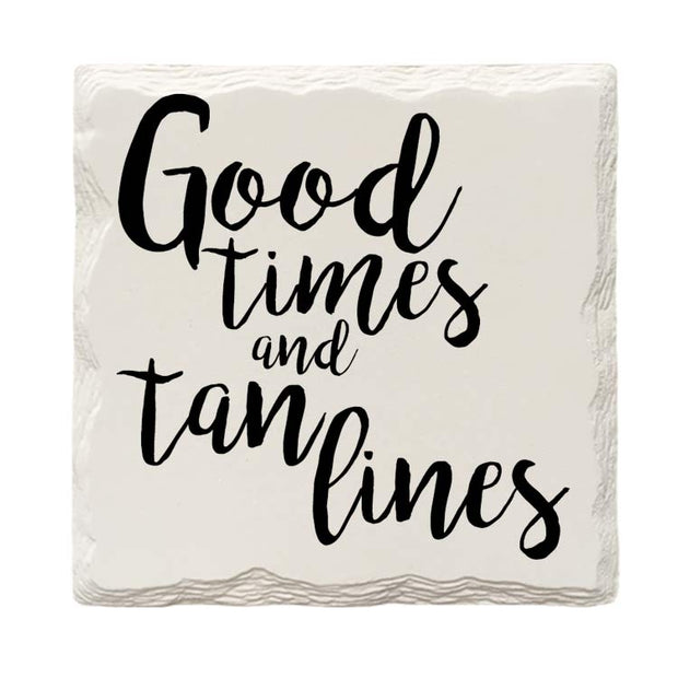 Good Times and Tan Lines Drink Coaster Set