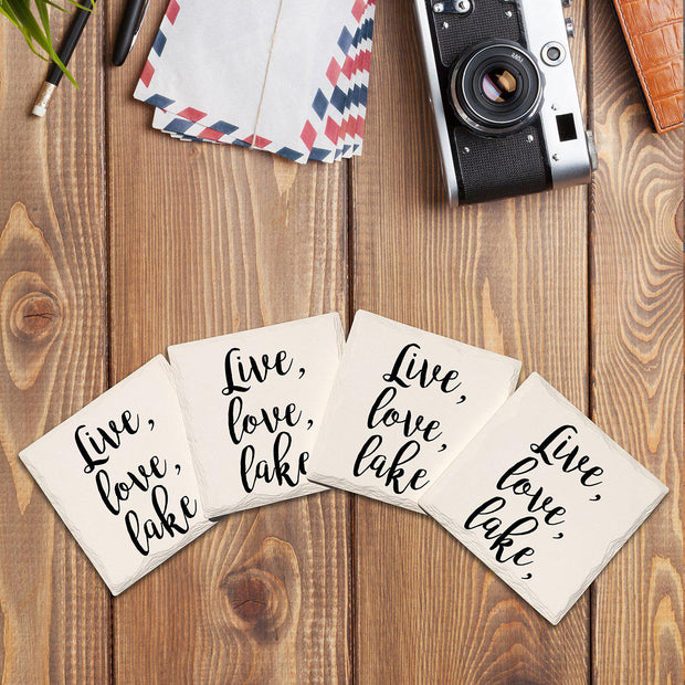 Live, Love, Lake Drink Coaster Set