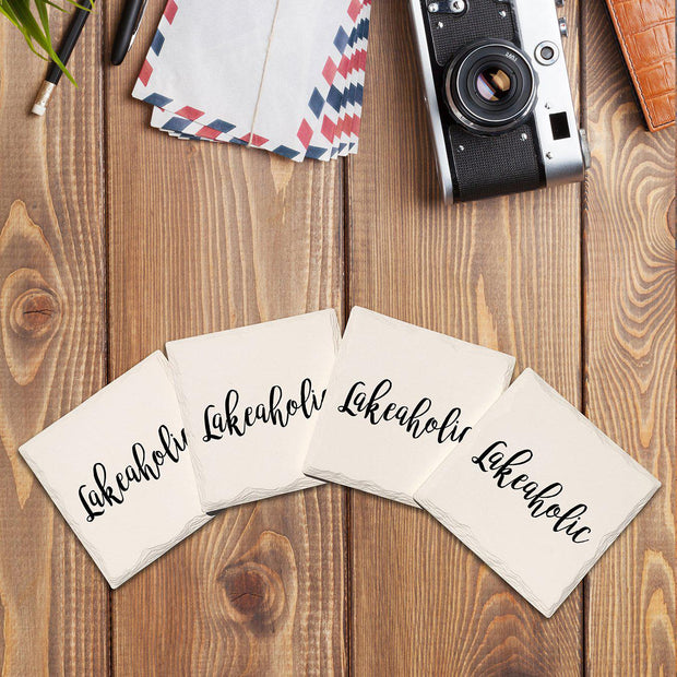 Lakeaholic Drink Coaster Set