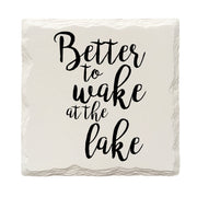 Better To Wake At The Lake Drink Coaster Set