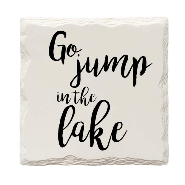 Go Jump In The Lake Drink Coaster Set