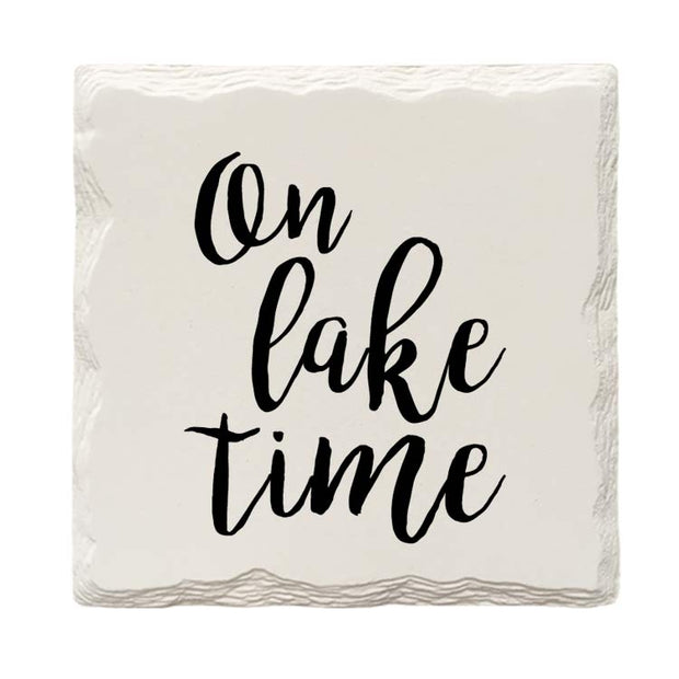 On Lake Time Drink Coaster Set