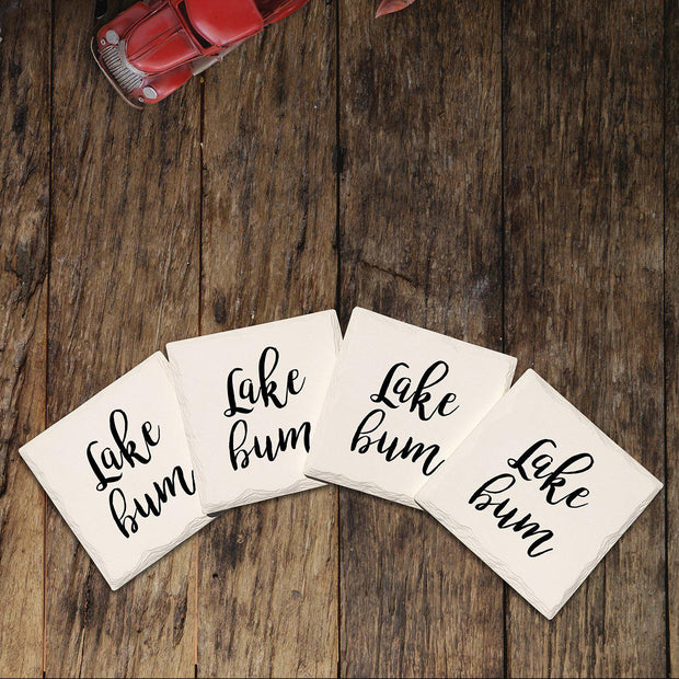 Lake Bum Drink Coaster Set