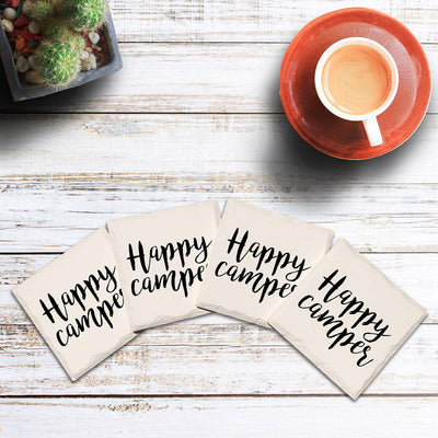 Happy Camper Drink Coaster Set