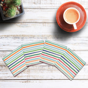 Colorful Stripes | Drink Coaster Set
