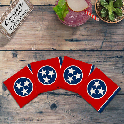 Tennessee State Flag | Drink Coaster Set