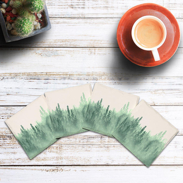 Misty Mountain Pines | Drink Coaster Set