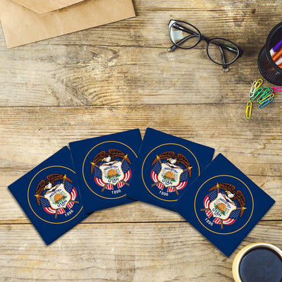 Utah State Flag | Drink Coaster Set