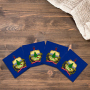 Vermont State Flag | Drink Coaster Set