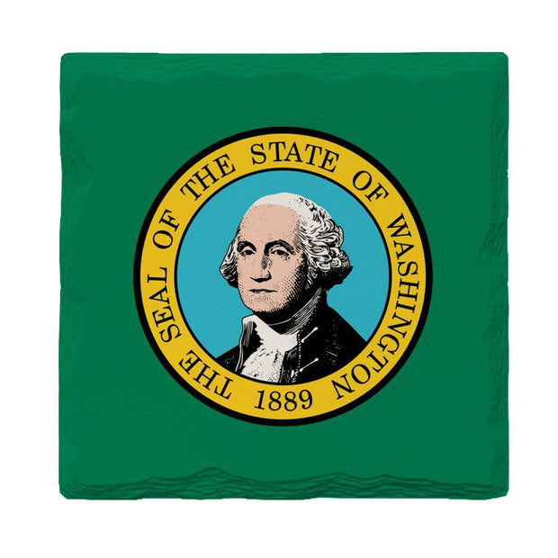 Washington State Flag | Drink Coaster Set