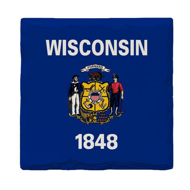 Wisonsin State Flag | Drink Coaster Set