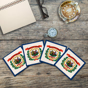 West Virginia State Flag | Drink Coaster Set