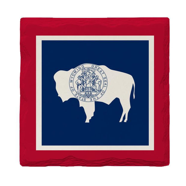 Wyoming State Flag | Drink Coaster Set