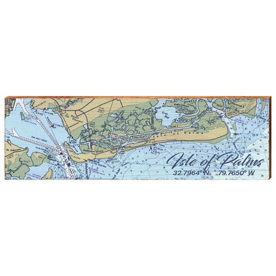 Isle of Palms, South Carolina Navigational Styled Chart Wall Art-Mill Wood Art