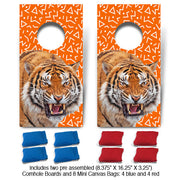 Orange Tiger Fun Size Cornhole Set-Mill Wood Art