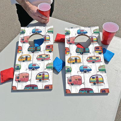 Cute Campers | Fun Size Mini Cornhole Game