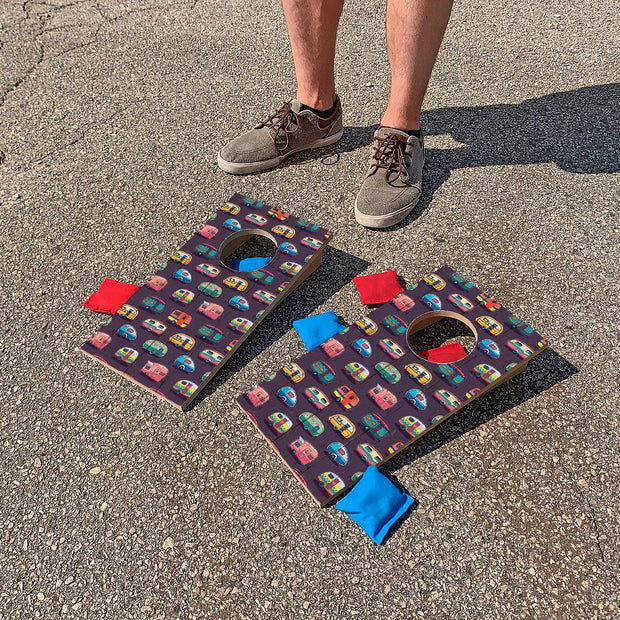 Colorful Campers | Fun Size Mini Cornhole Game