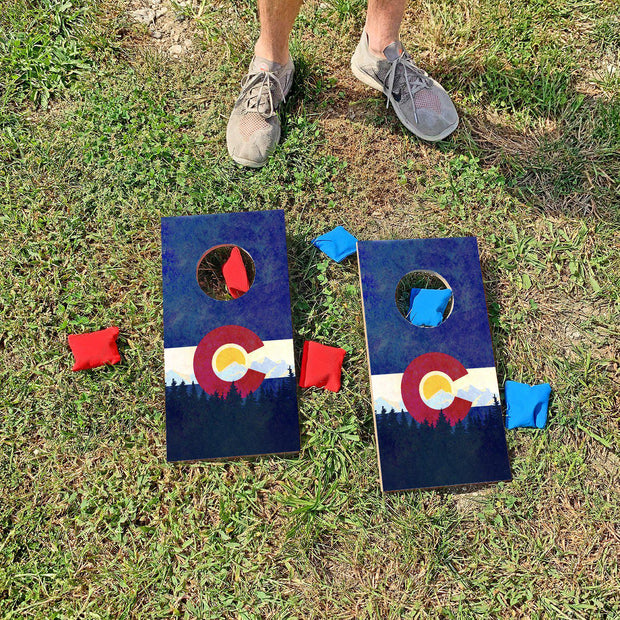 Colorado Flag Fun Size Cornhole Set